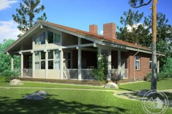 Каркасный дом с террасами