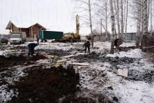 Начало работ на участке зимой