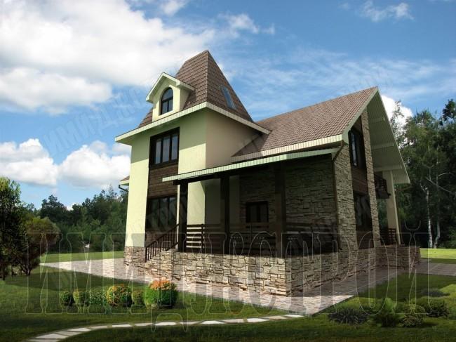 Дом с башней 294 кв.м.