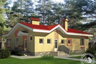Дом для углового участка