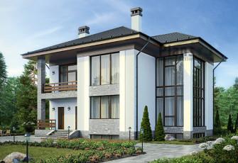 Трёхэтажный дом в канадском стиле на 290 м2 Загородный дом: канадский вариант