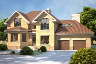 Дом с двумя гаражами на 285 квадратных метра