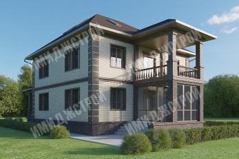 Дом с эксплуатируемым чердаком 268 кв.м.