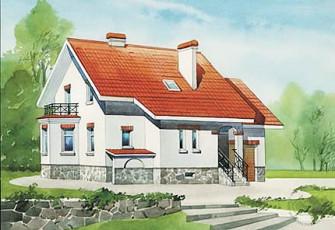 Типовой проект дома в европейском стиле