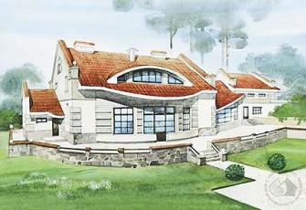 Двухэтажный коттедж дизайнера и архитектора