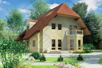 Проект дома с высокой кровлей