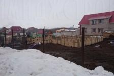 Ограждение территории зимой