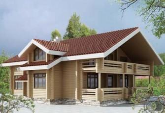Удобный и комфортабельный дом из бруса