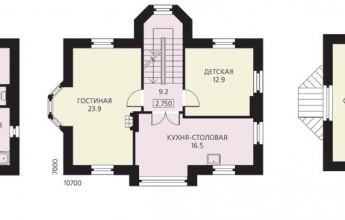 Трехэтажный реализованный коттедж