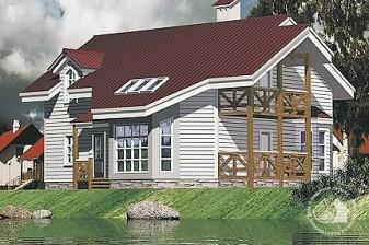 Загородный коттедж для живописного участка