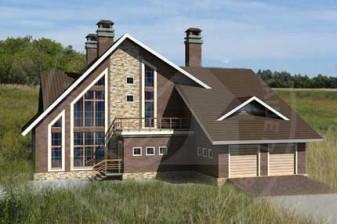 Проект дома в стиле шале