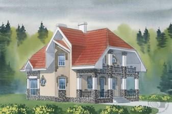 Разносторонний дом с винтажной ковкой и множеством выступов