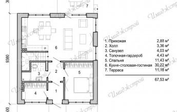 Дом с мансардой 121