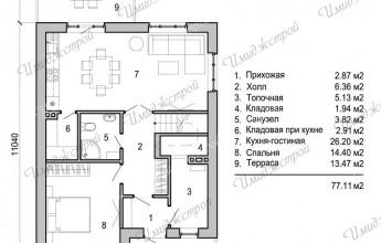 Интересный дом со светлым фасадом  Оригинальный двухэтажный дом на 138 м2