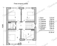 Проект коттеджа с элементами фахкверка 169 кв.м.