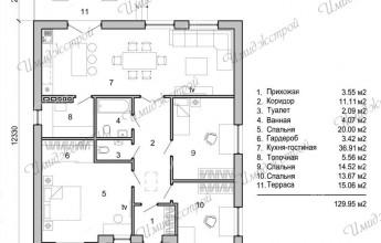 Проект Чесноковка 129 кв.м.