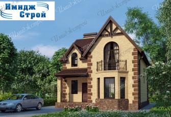 Двухэтажный дом на 156 м2 .Вытянутый двухэтажный особняк
