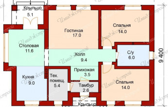 Маленький коттедж 92 кв.м.