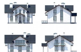 Дом с мансардой 181 кв.м.