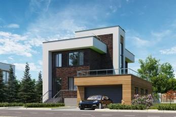 Дом с плоской крышей 198 кв.м.