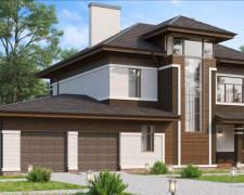 Проект коттеджа для большой семьи с дизайном 318 кв.м.