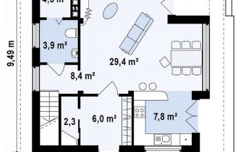 Необычный коттедж 122 кв.м.