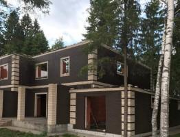 Павловка. Строительство основного и гостевого домов