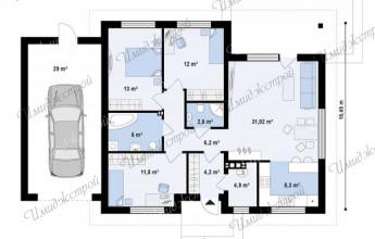 Один этаж в коттедже 129 кв.м.