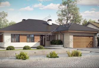Проект дома с двойным гаражом 221 кв.м.