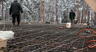Строительство коттеджа зимой