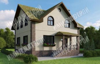 проект дома из отштукатуренного фасада