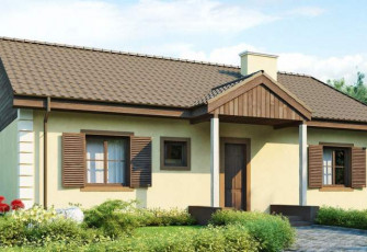Коттедж с двухскатной крышей в 99 кв.м.